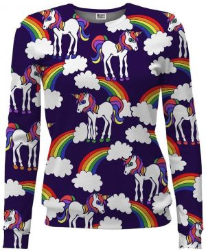 Women Fit Rainbow Unicorns farebné XS