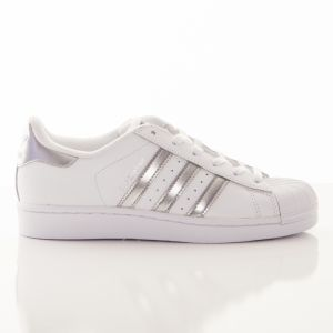 Boty Superstar White Silver 6,5
