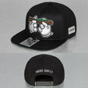 Smoke And Fly Snapback Cap Black Štandardná