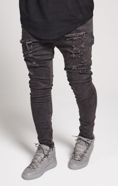 Jeans Siksilk Ripped Hareem  Washed Brown 32