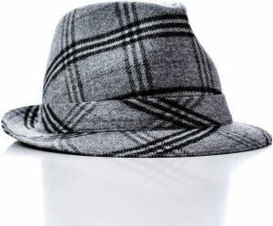 Italian Hat Big Check Black L