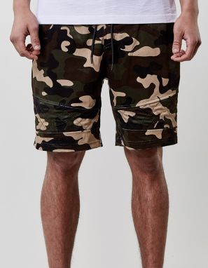 Kraťasy C&s BL New Age Velourshorts Camo Green XXL