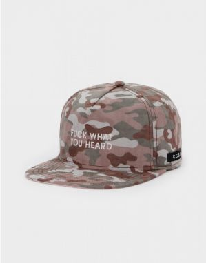 Snapback C&s BL What You Heard Camo Beige Štandardná