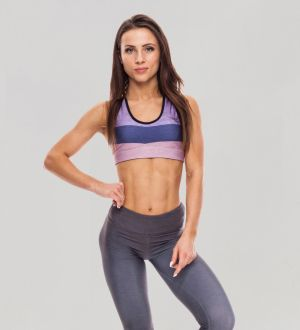 Sports Crop Toptricolor Lilac Chiffon XS