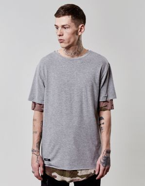Tričko C&s BL Deuces Long Layer Grey XL