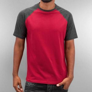 Raglan T-Shirt Burgundy/Anthracit XXL
