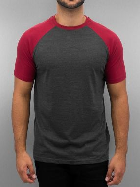 Raglan T-Shirt Bordeaux/Anthracite XXL