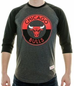 Tričko Split Colour Raglan Chicago Bulls Dark Grey S