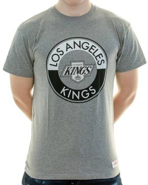 Tričko Split Colour Traditional Tee Los Angeles Kings Grey XL