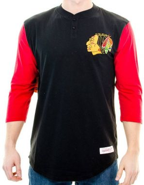 Tričko Chicago Blackhawks Black Red XL