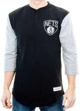 Tričko Brooklyn Nets Black Grey XL
