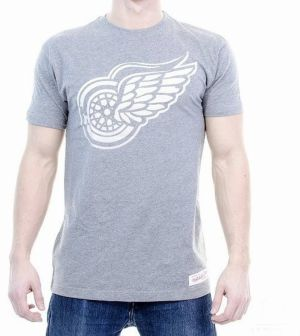 Tričko Gradient Infill Traditional Detroit Redwings Grey S