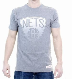 Tričko Gradient Infill Traditional Brooklyn Nets Grey S
