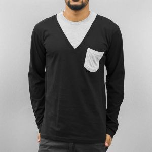 Breast Pocket Longsleeve Black/Grey XXL
