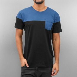 Breast Pocket T-Shirt Black/Blue S