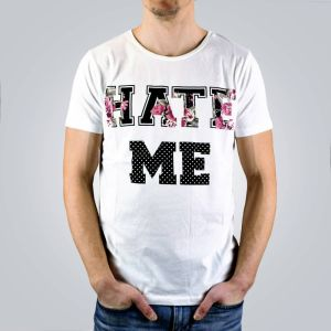 Tričko Hate Me White XS