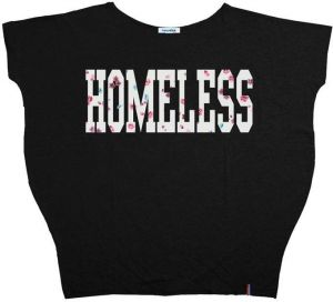 Tričko Homeless Black XS