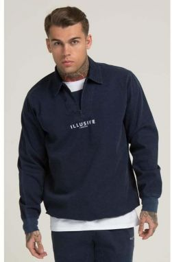 Svetr ILLUSIVE LONDON Drill Washed Navy M