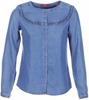 e47a57a52ebf Svetlomodrá dámska rifľová košeľa s volánmi s.Oliver značky s.Oliver ...