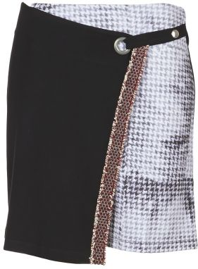 eb46400751 Čierna rifľová sukňa s výšivkami Desigual Exo Red značky Desigual ...