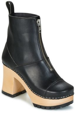Čižmičky Swedish hasbeens  GRUNGE BOOT BLACK