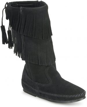 Čižmy do mesta Minnetonka  CALF HI 2-LAYER FRINGE BOOT