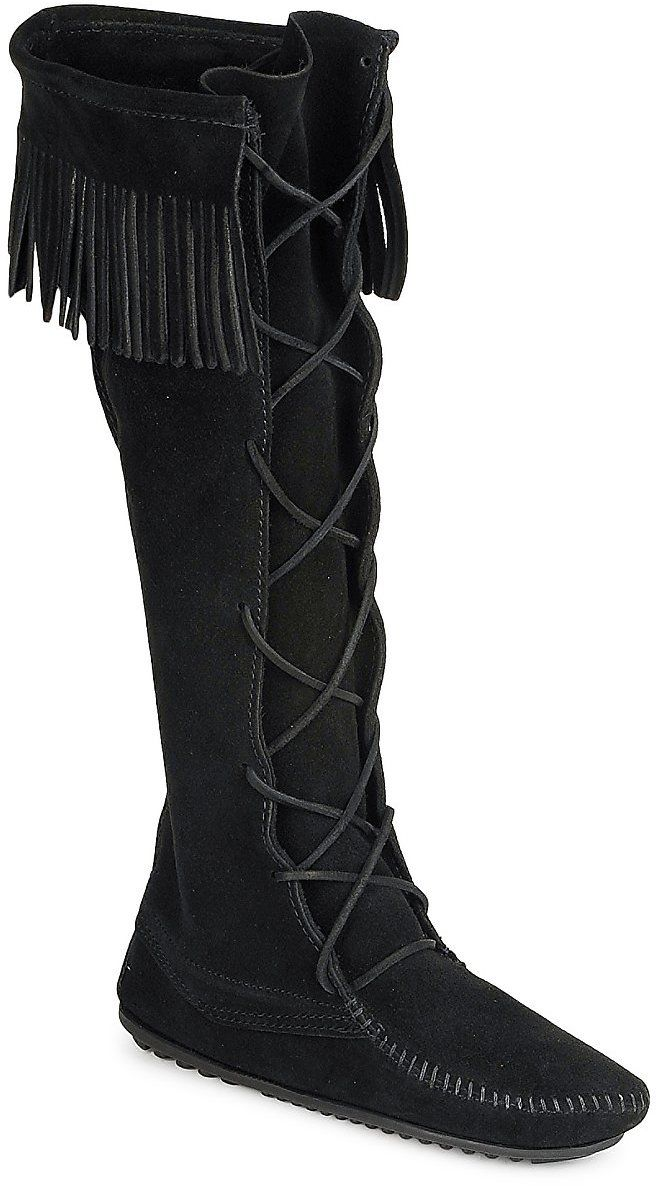 Čižmy do mesta Minnetonka  FRONT LACE HARDSOLE KNEE HI BOOT