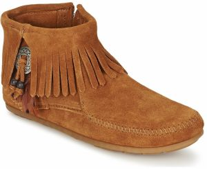 Polokozačky Minnetonka  CONCHO FEATHER SIDE ZIP BOOT