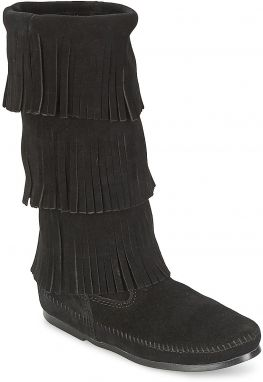 Čižmy do mesta Minnetonka  CALF HI 3 LAYER FRINGE BOOT