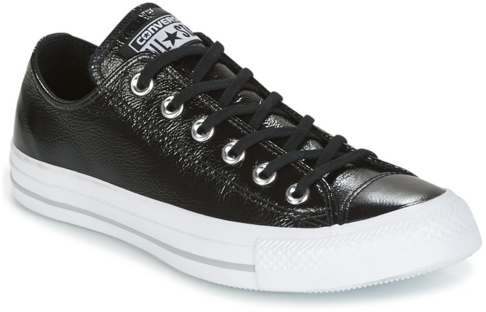 Nízke tenisky Converse  CHUCK TAYLOR ALL STAR CRINKLED PATENT LEATHER OX BLACK/BLACK/WHI