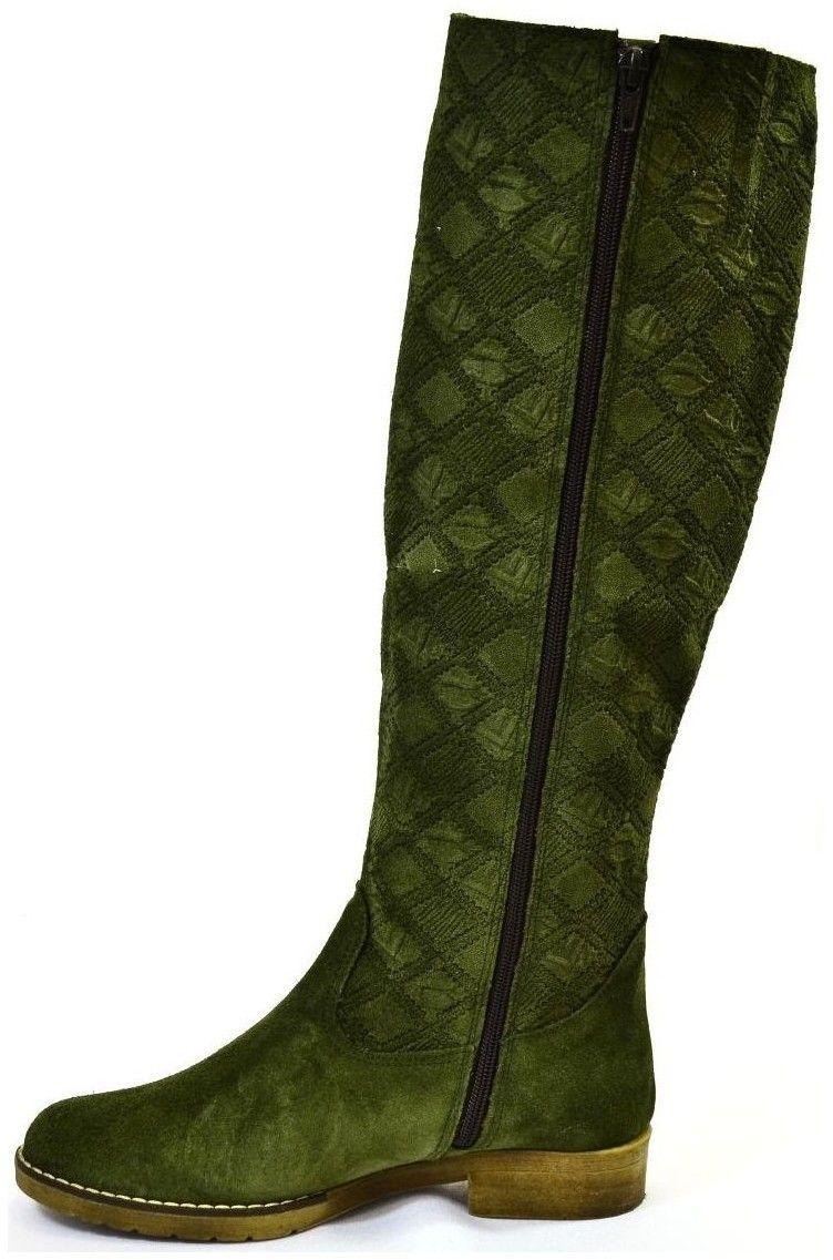 9799689f88c9 Vysoké čižmy John-C Dámske zelené čižmy CARA značky John-C - Lovely.sk