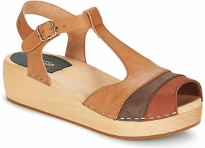 Sandále Swedish hasbeens  90'S-T-STRAP-WEDGE