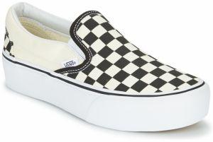 a3e48ac06 Bielo-čierne dámske vzorované slip on VANS Classic Peanuts značky ...