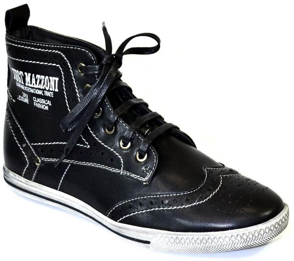 cfdd0cd5b35be Členkové tenisky Just Mazzoni Pánske čierne topánky ALVIN značky ...