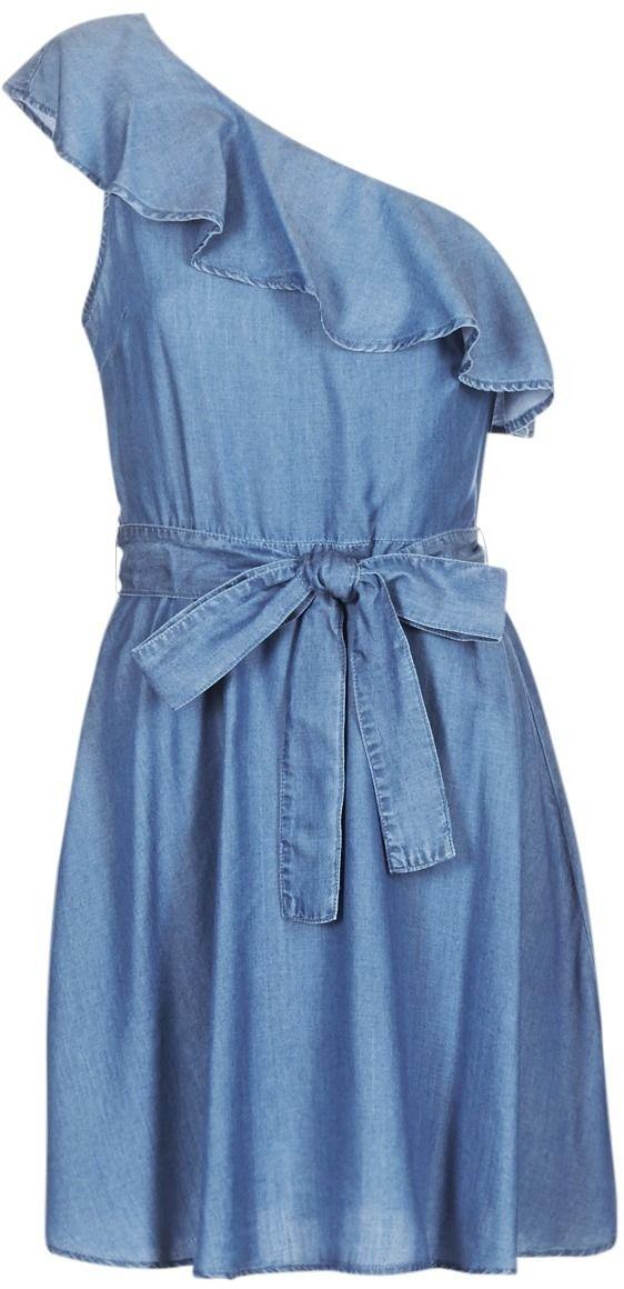 Krátke šaty MICHAEL Michael Kors ONE SHLDR RUFFLE DRS značky MICHAEL ... da6096c8239