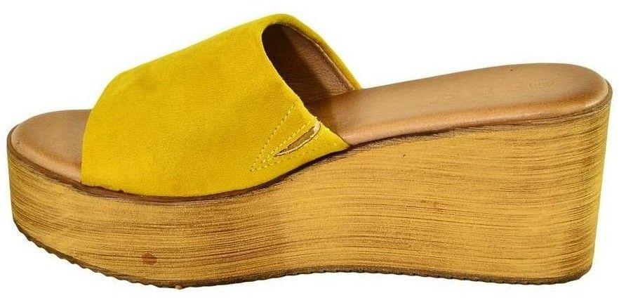 4431b343fcce Sandále John-C Dámske žlté šľapky VICTA značky John-C - Lovely.sk