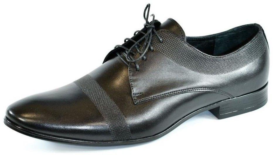 b53fae5199 Nízka obuv do mesta I-Guana Pánske kožené čierne poltopánky TIMO ...