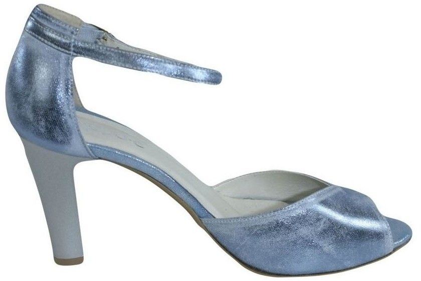 5bb7af561a Sandále John-C Dámske kožené modré sandále MADAS značky John-C ...