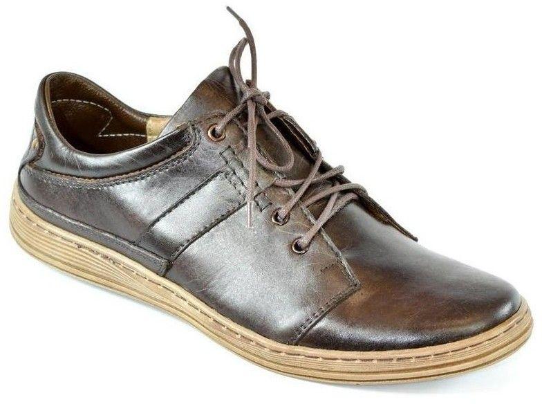 840a220891 Nízka obuv do mesta Krezus Pánske kožené hnedé topánky WARO značky ...