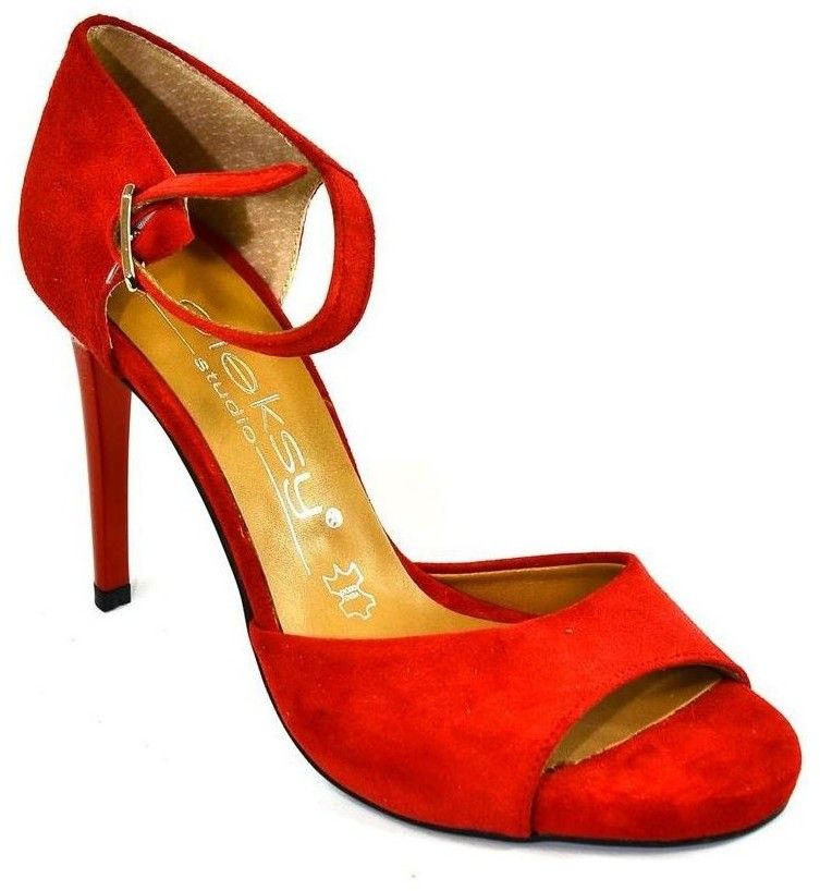 b39c082ba0575 Sandále Oleksy Dámske červene sandále FINAS značky Oleksy - Lovely.sk