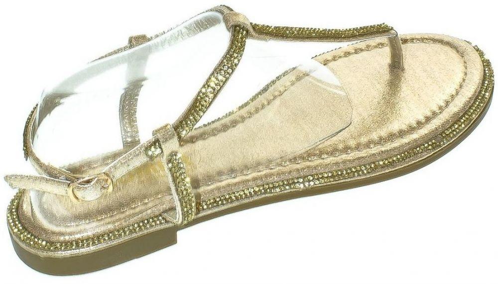 b3b01e6fb0074 Sandále Comer Dámske zlaté sandále OLANI značky COMER - Lovely.sk