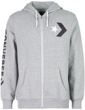 Mikiny Converse  CONVERSE STAR CHEVRON GRAPHIC FULL-ZIP HOODIE