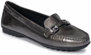 d6450927977e Čierne dámske lesklé kožené mokasíny na platforme Geox Blenda C ...
