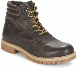 Polokozačky Jack   Jones  STOKE LEATHER BOOT