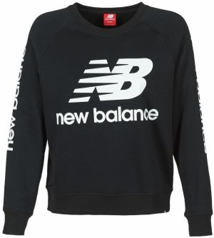 Mikiny New Balance  GRAPHIC SWEATER BLACK
