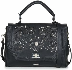 Čierna kabelka s ornamentmi Desigual Loverty Amber značky Desigual ... 79cd2b417f1