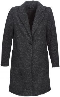 Čierny dlhý prešívaný kabát s kapucňou ONLY Naja značky ONLY - Lovely.sk d6616f1407c