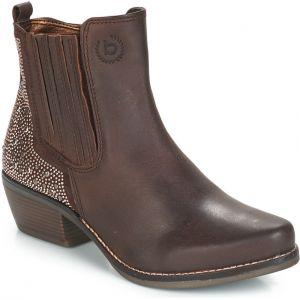 39f50ef33 Hnedé dámske šnurovacie členkové topánky na podpätku bugatti Cathy ...