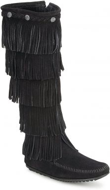 Čižmy do mesta Minnetonka  5 LAYER FRINGE BOOT