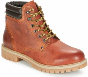Polokozačky Jack   Jones  STOKE LEATHER BOOT RUST